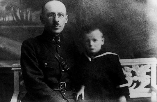 Portrait, avec son père, le 30 juin 1925 Jeanpaul2-1925